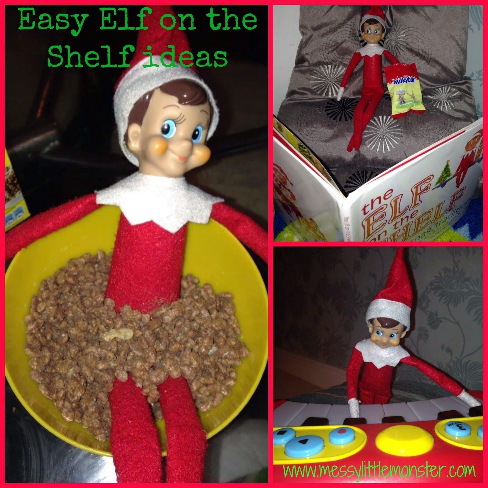 easy elf on the shelf ideas - messy little monster