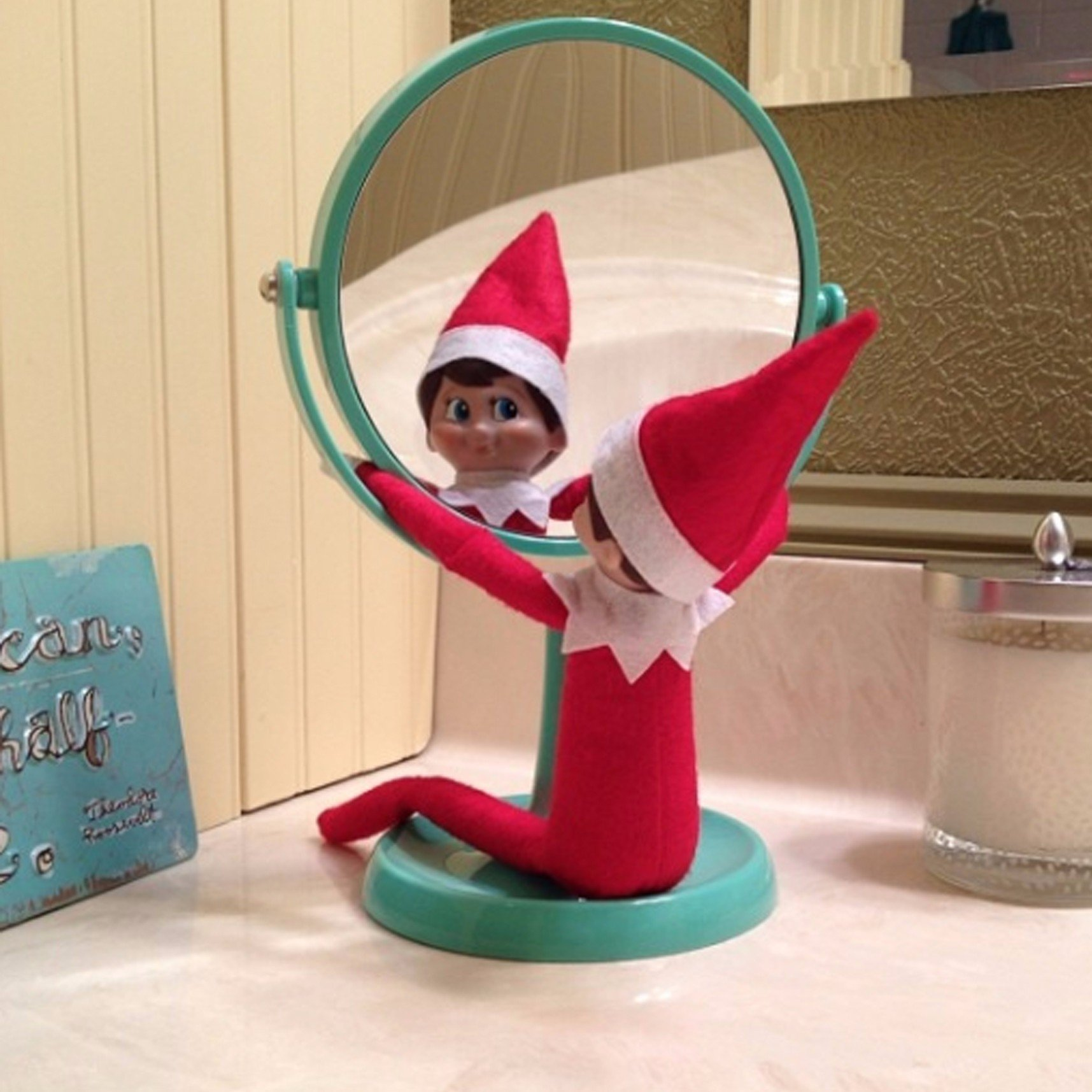 10 Pretty Elf On The Shelf Idea easy elf on the shelf ideas popsugar moms 1 2020