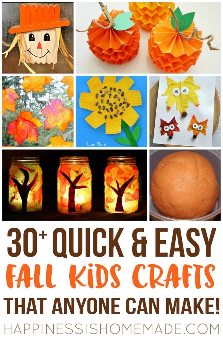 10 Fantastic Fall Craft Ideas For Kids easy fall kids crafts that anyone can make happiness is homemade 2020
