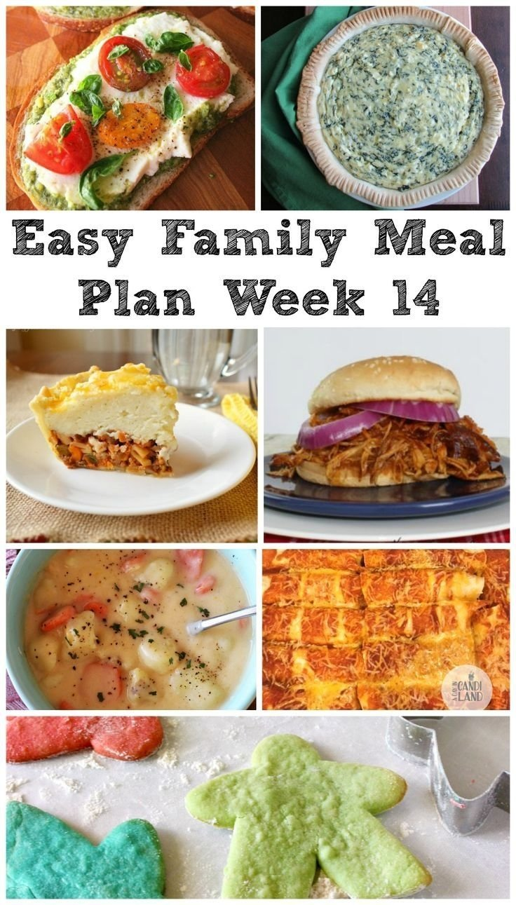 10 Amazing Dinner Ideas For Family Of 6 easy family meal plan week 14 dinner ideas family meal planning 2021