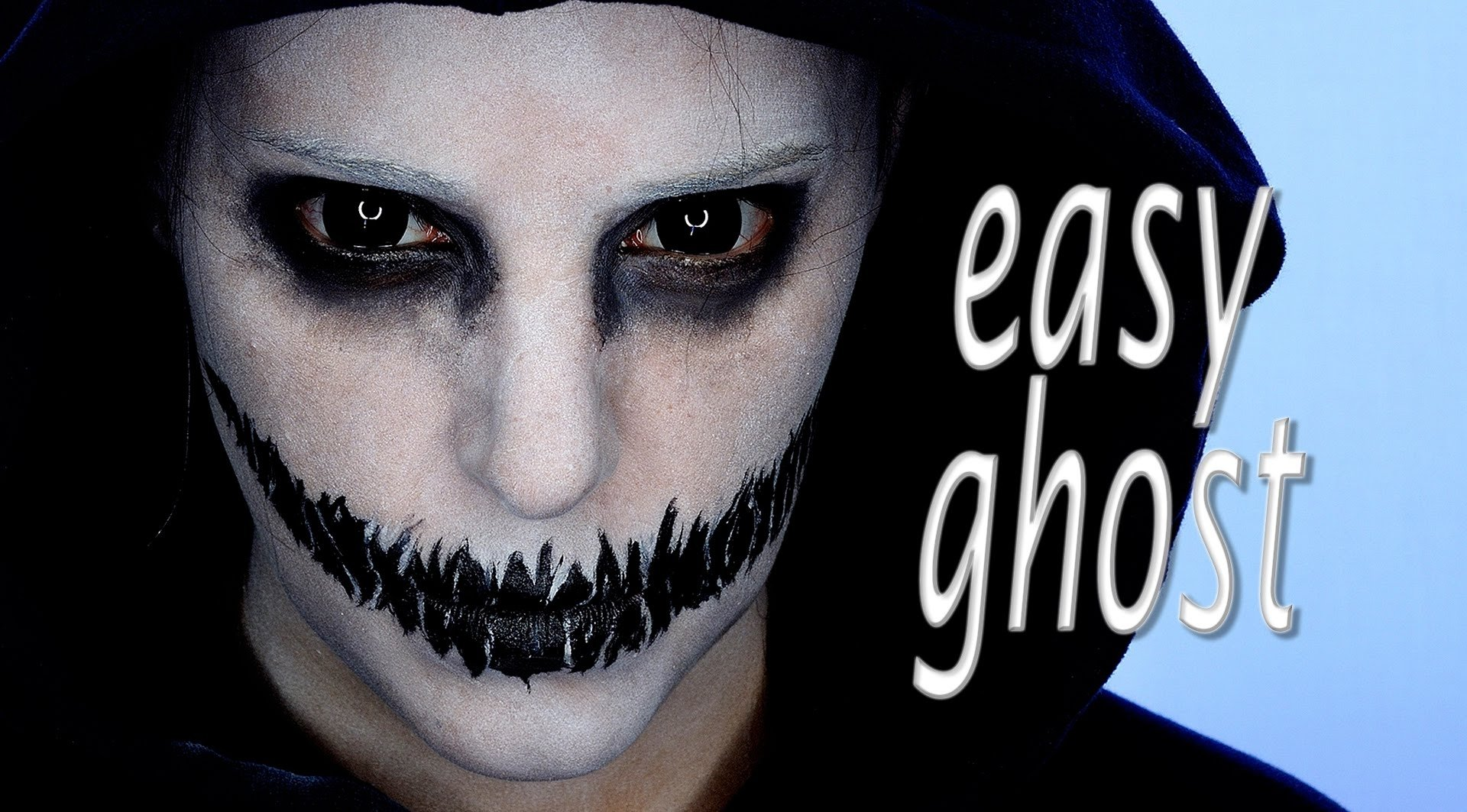 easy ghosts halloween makeup tutorial | silvia quiros - youtube