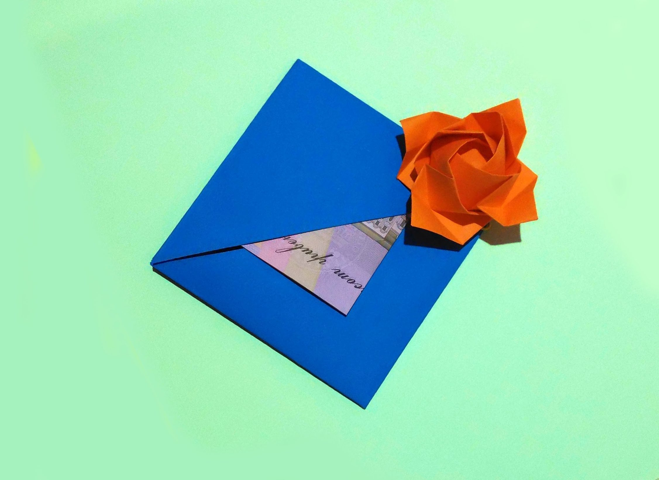 10 Elegant Gift Card Ideas For Women easy gift card with flower and secret message inside origami card