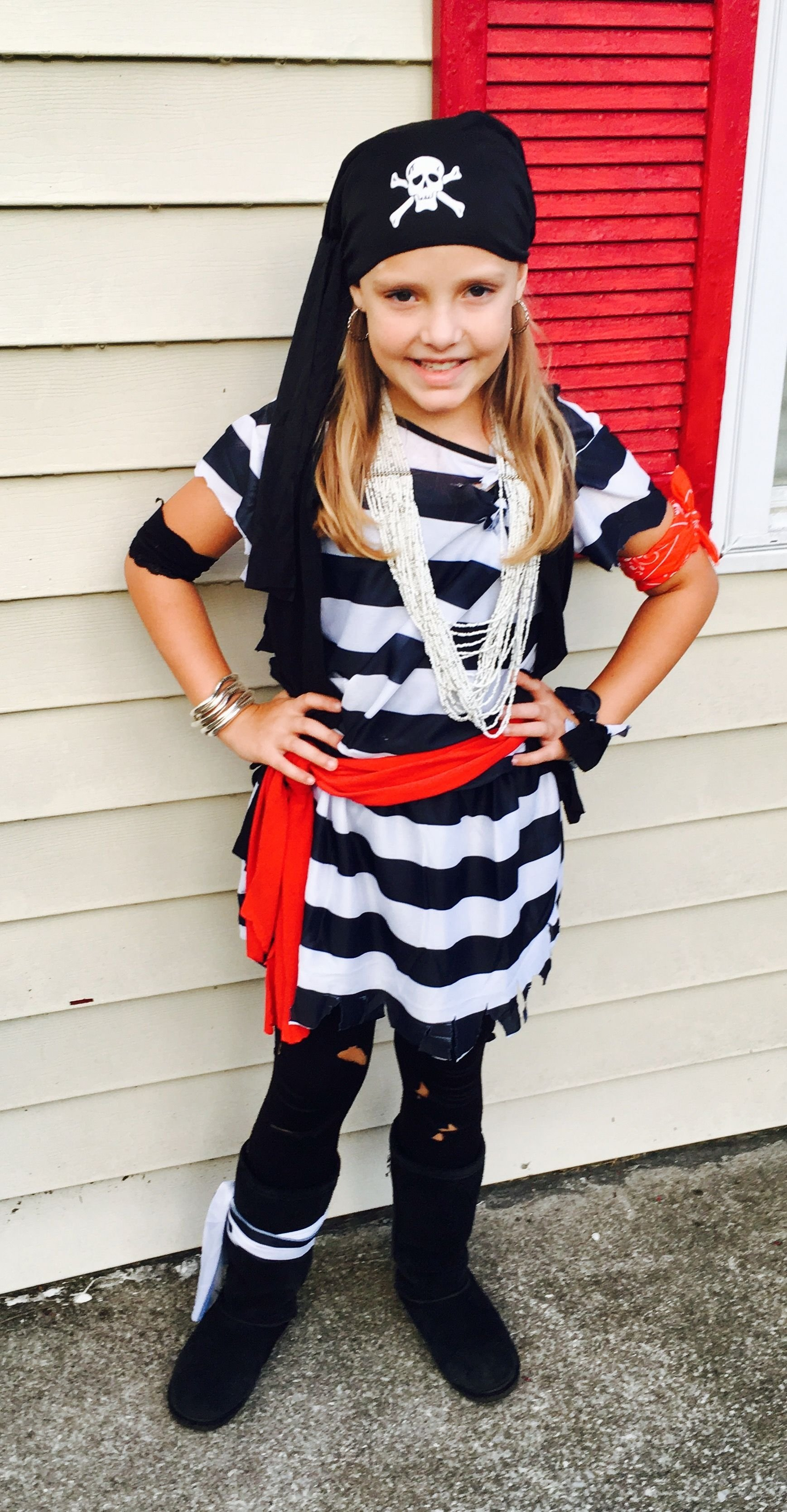 10 Attractive Homemade Pirate Costume Ideas For Kids easy girls pirate costume made from cheap adult size prisoner 1