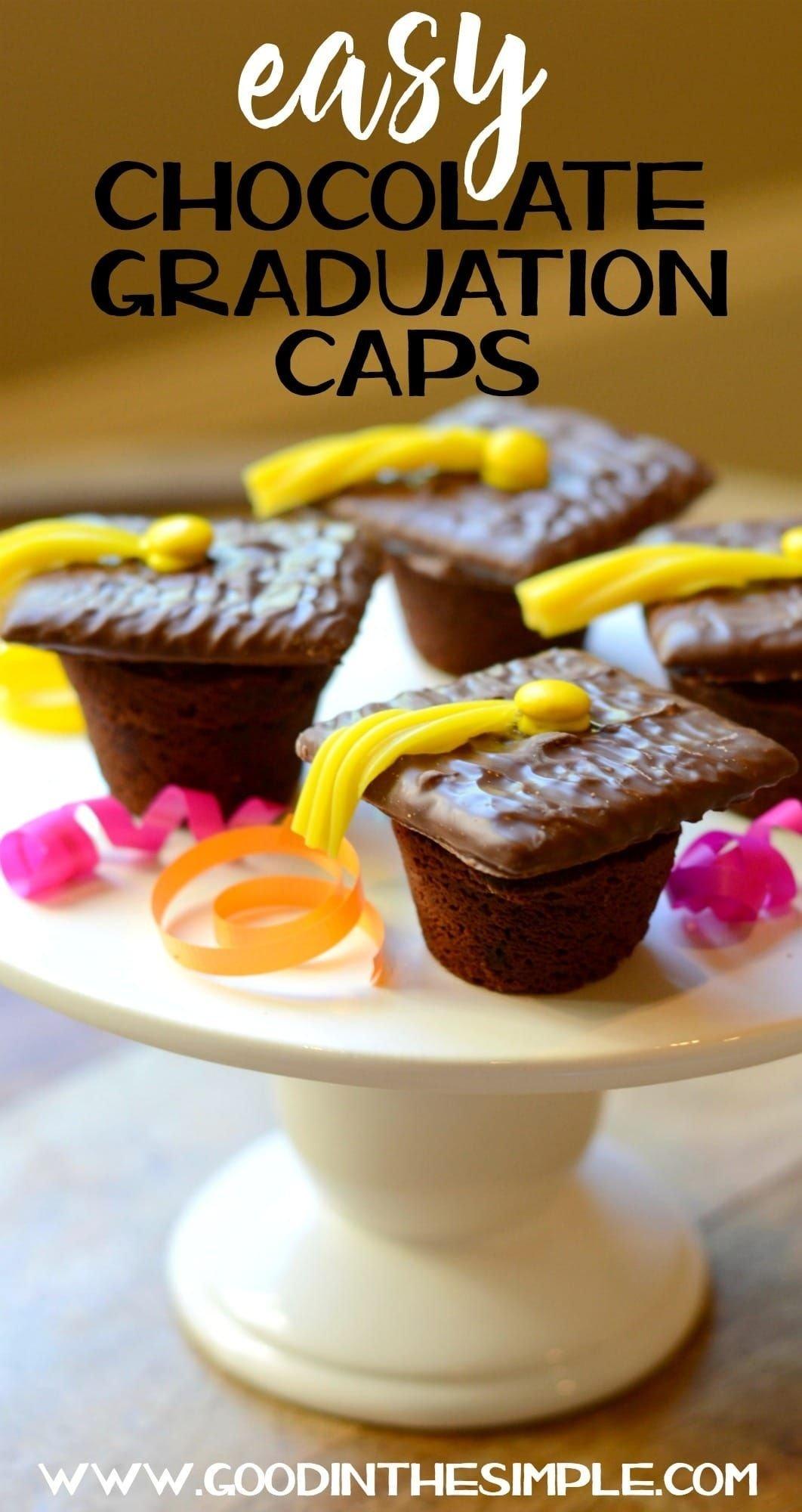 10 Elegant Ideas For Graduation Party Food easy graduation party idea chocolate graduation caps cap 2021