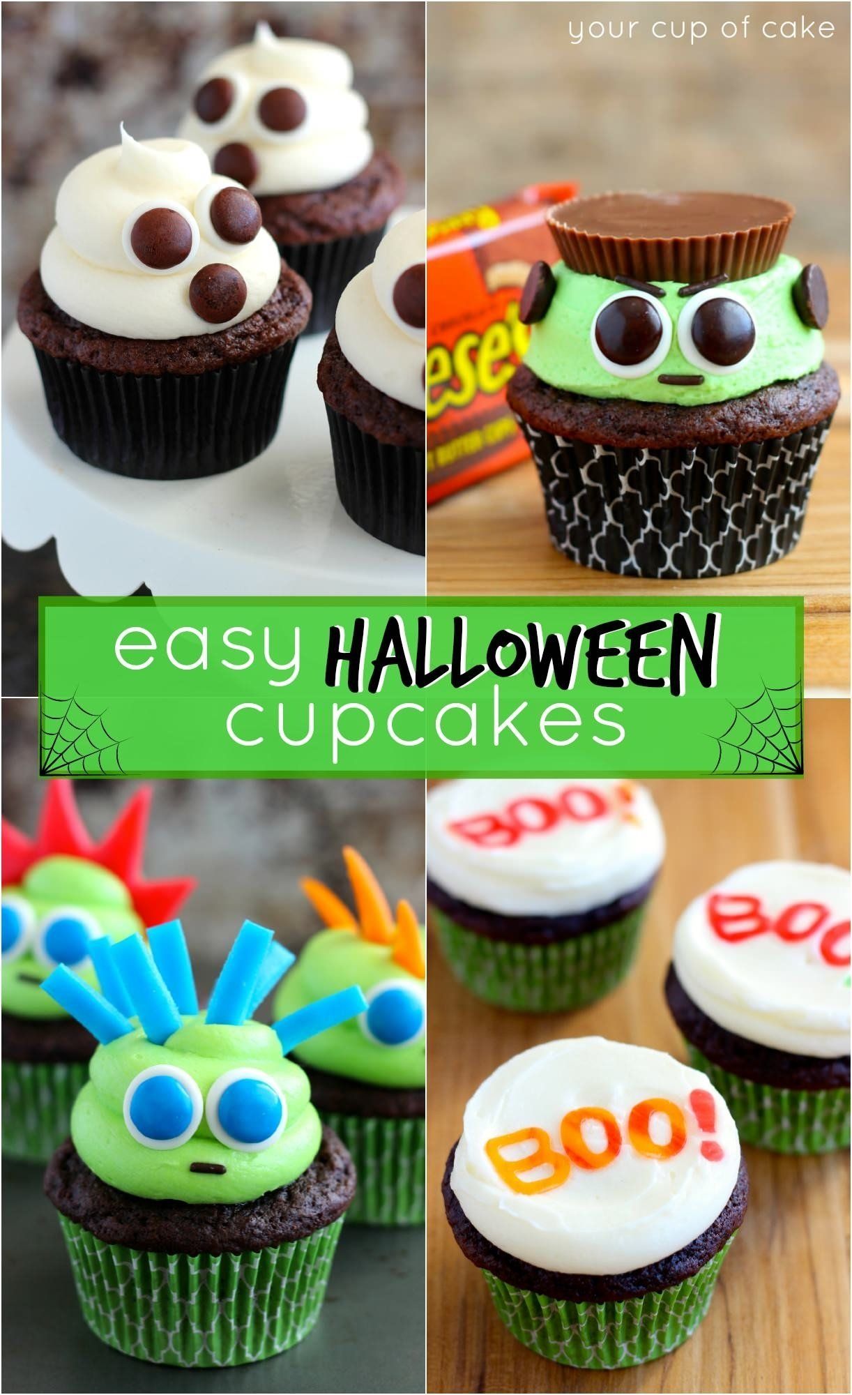 10 Elegant Halloween Cake Ideas For Kids easy halloween cupcake ideas your cup of cake 1 2020