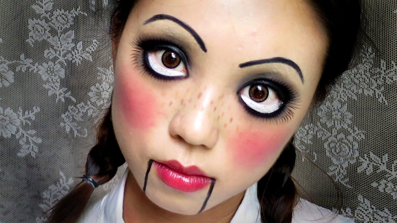10 Fashionable Face Makeup Ideas For Halloween easy halloween makeup creepy cute doll e4b8ade69687e5ad97e5b995 youtube 2021