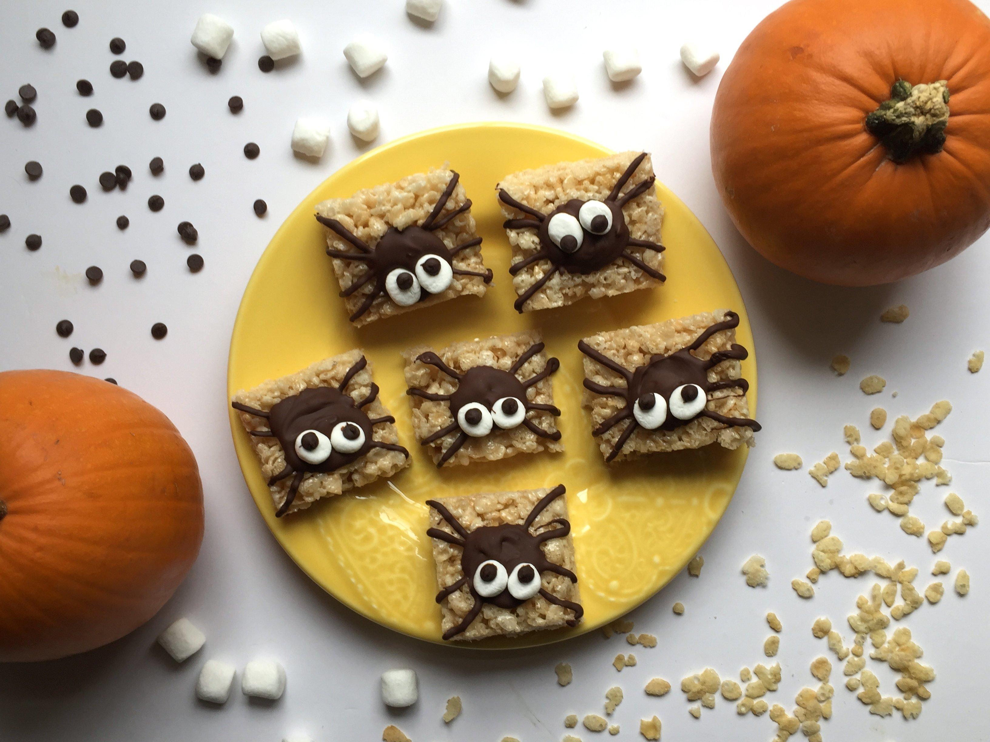 10 Great Halloween Rice Krispie Treat Ideas easy halloween treats spider rice krispie treats 2020