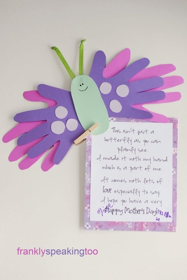 10 Cute Mothers Day Craft Ideas For Kids easy homemade mothers day cards from the kids butterfly crafts