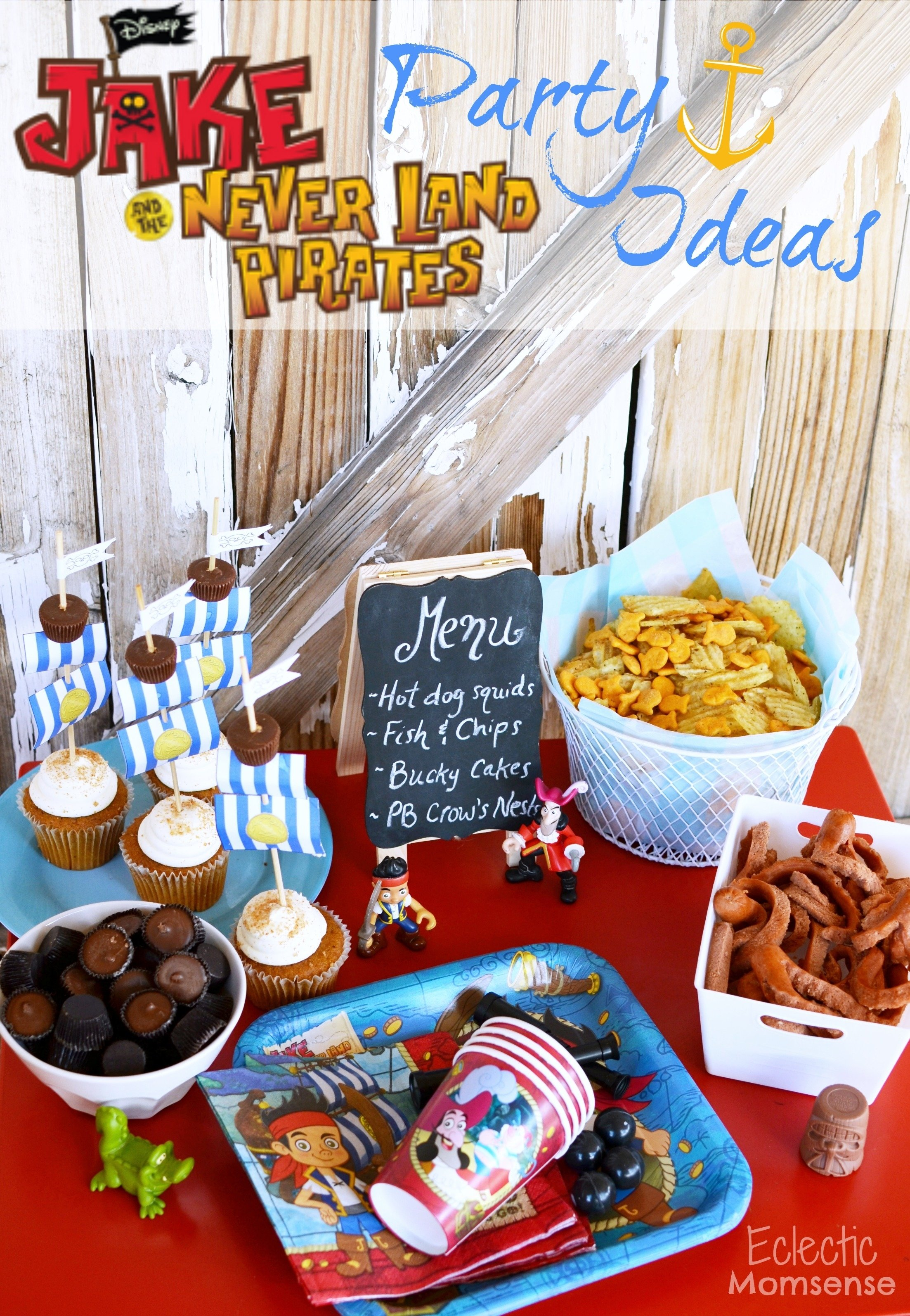 easy jake and the neverland pirates party ideas - eclectic momsense