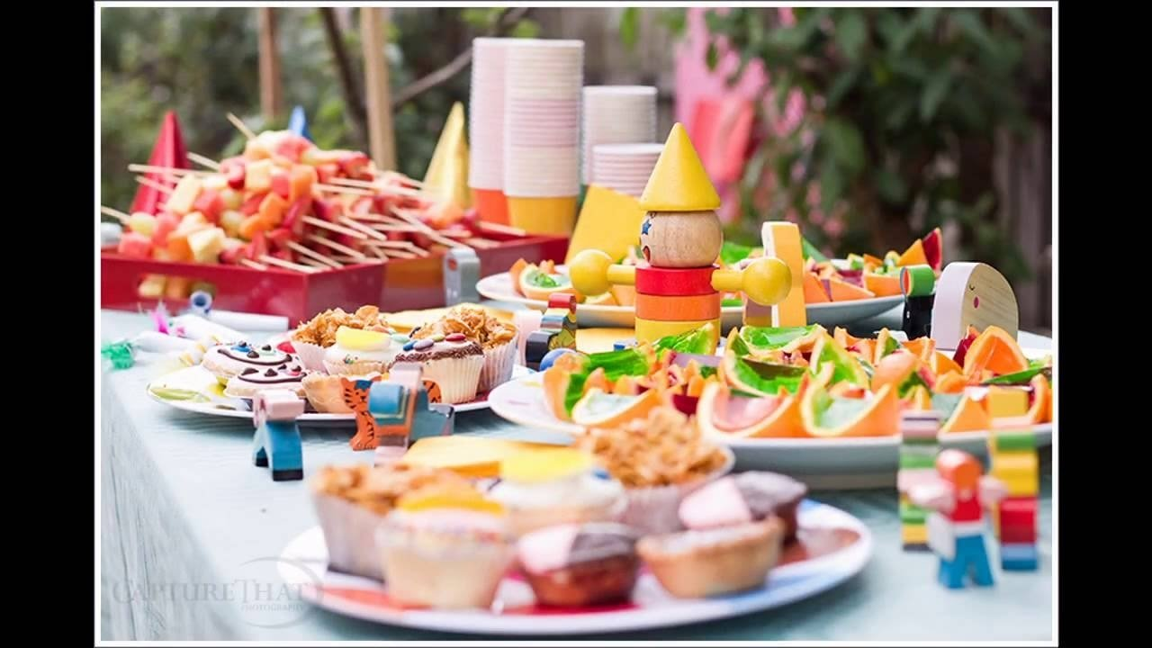 easy kids home birthday party food ideas - youtube
