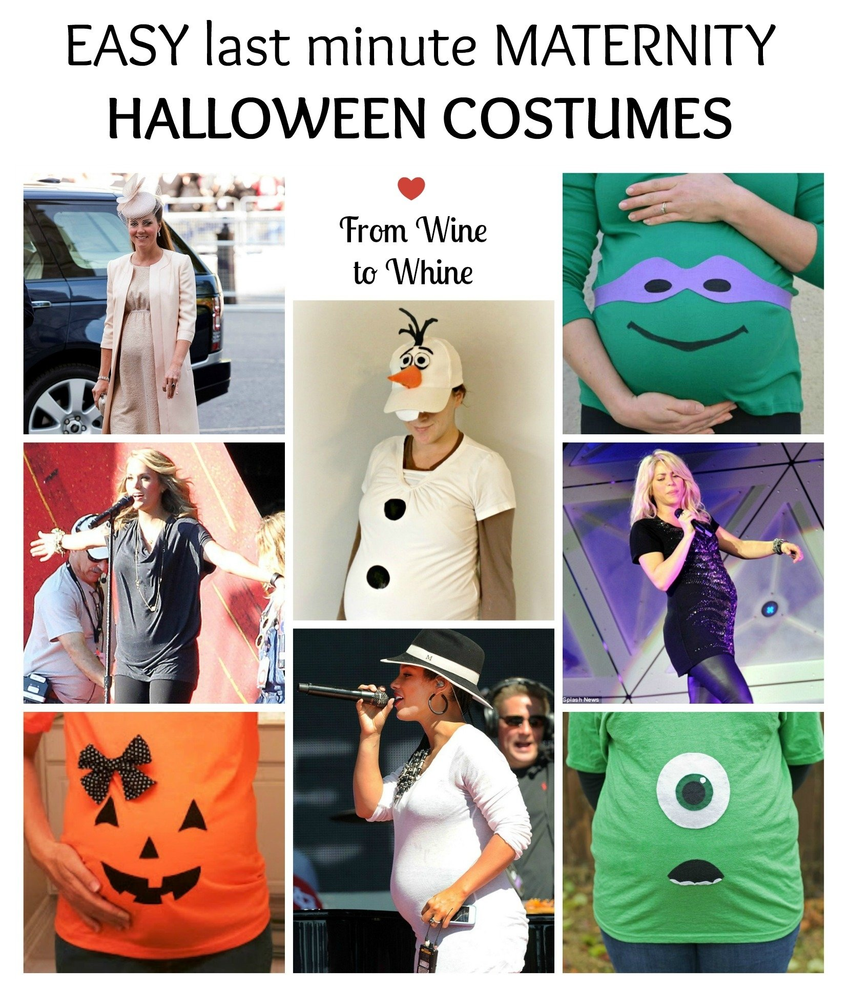 10 Perfect Halloween Costume Ideas For Pregnant easy last minute maternity halloween costumes from wine to whine
