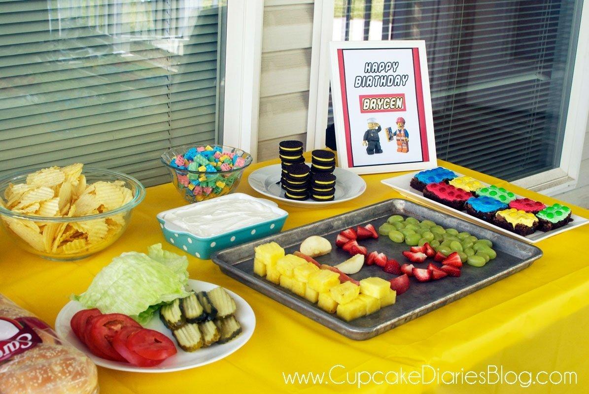 10 Nice Lego Birthday Party Food Ideas easy lego birthday party ideas cupcake diaries 2 2020