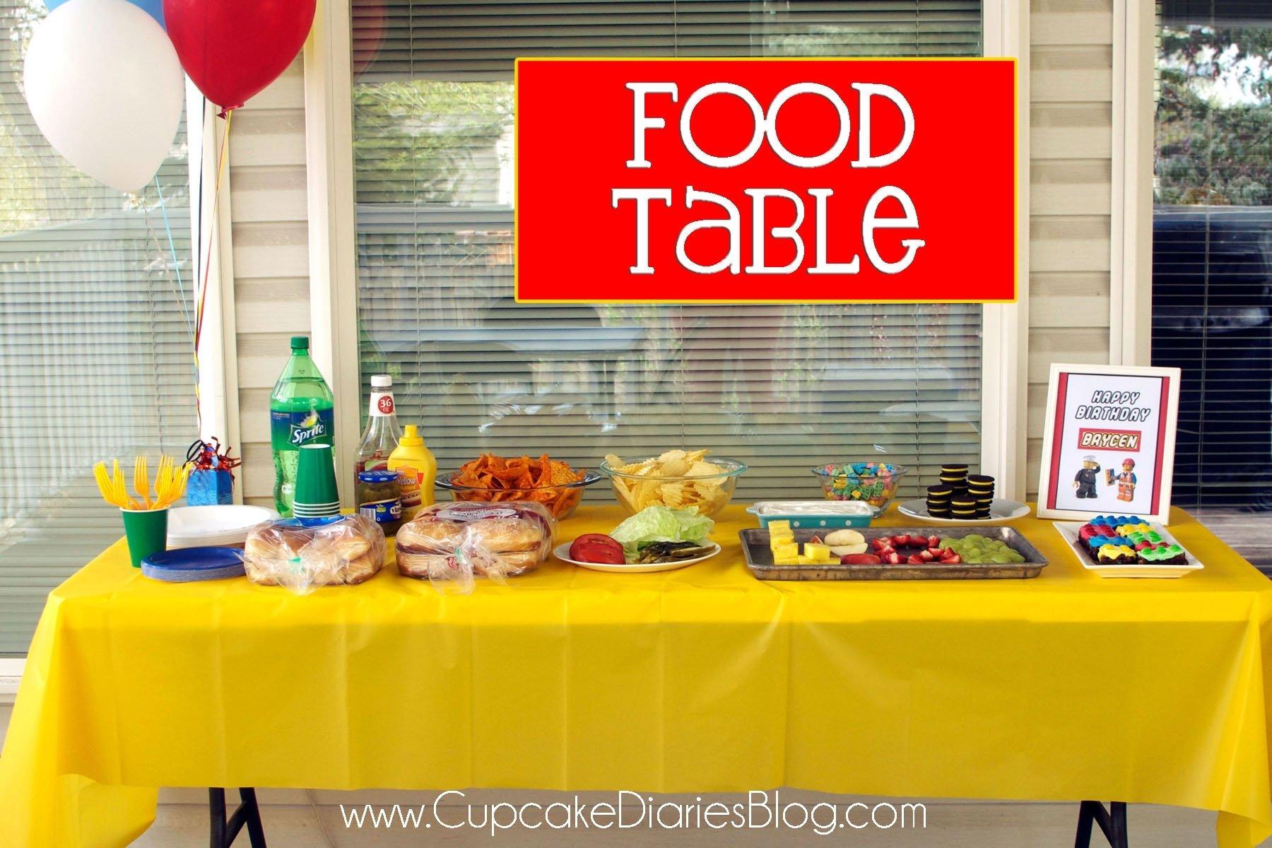 10 Nice Lego Birthday Party Food Ideas easy lego birthday party ideas cupcake diaries 3 2020