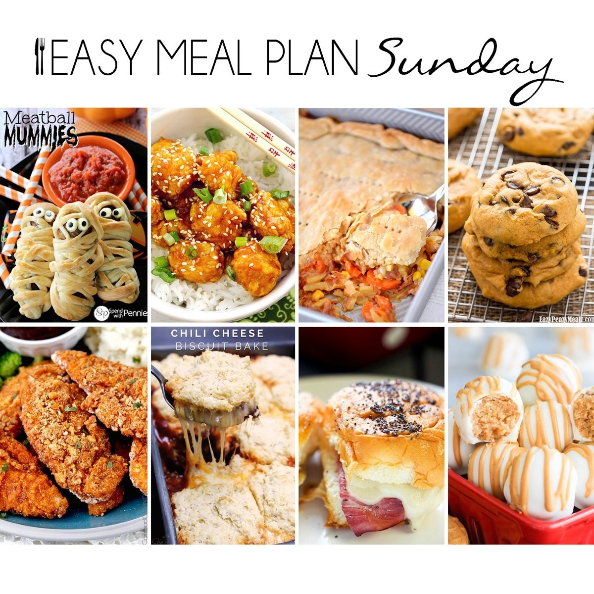 10 Unique Meal Ideas For The Week easy meal plan 17 easy peasy meals