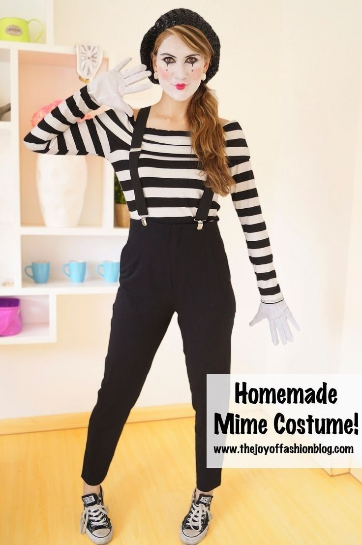 10 Unique Homemade Costumes For Women Ideas Easy easy mime halloween costume great last minute costume idea 1 2020