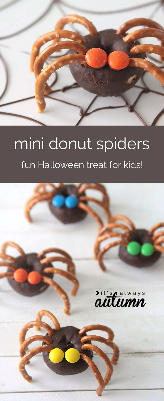 10 Unique Halloween Treat Ideas For School easy mini donut spiders easy halloween treat kids can make its 2020