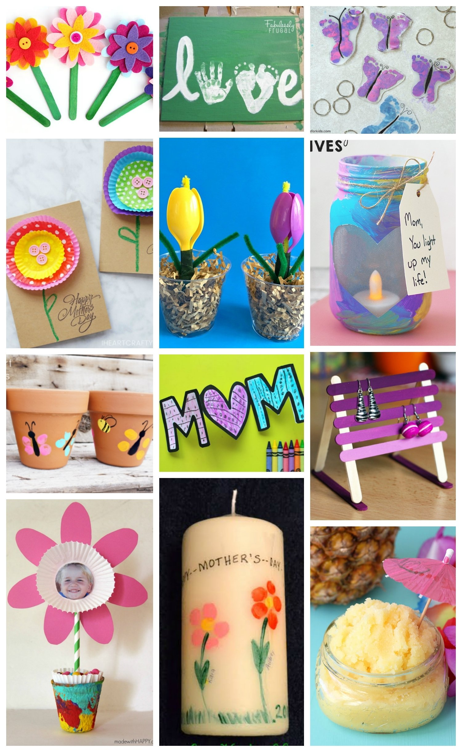 10 Awesome Cute Mothers Day Craft Ideas easy mothers day crafts for kids happiness is homemade 2 2021
