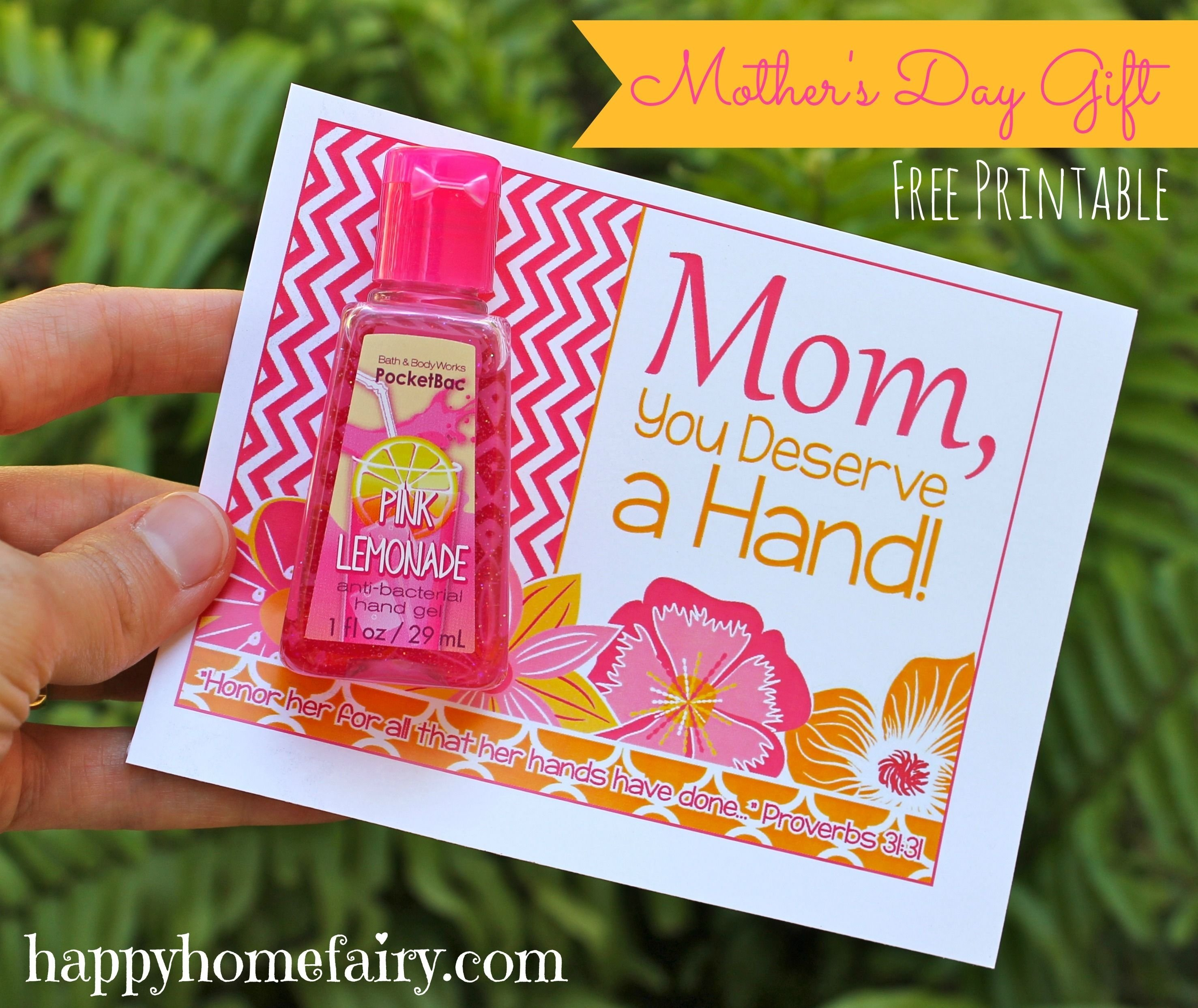 easy mother's day gift idea - free printable | free printable, easy