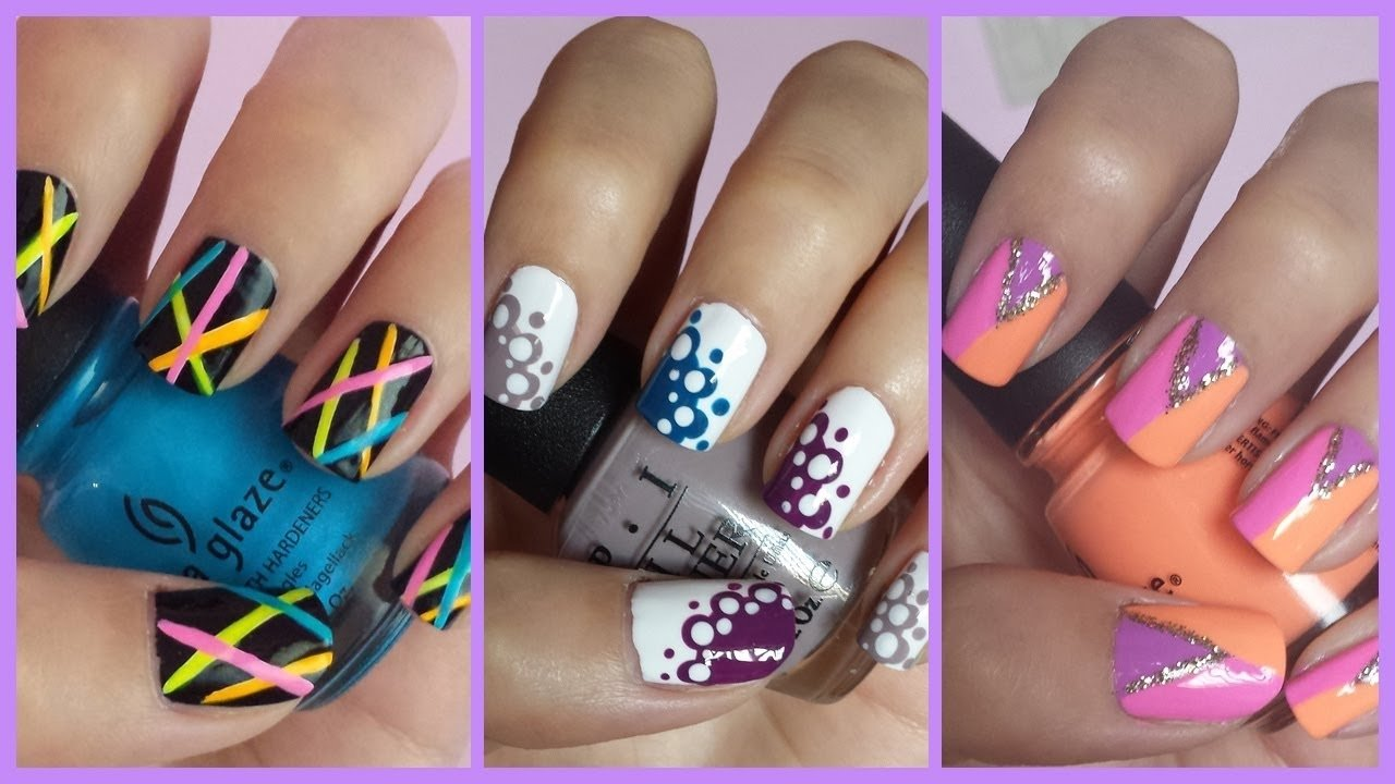 10 Fantastic Nail Art Ideas Easy Step By Step easy nail art for beginners 11 youtube 2 2021