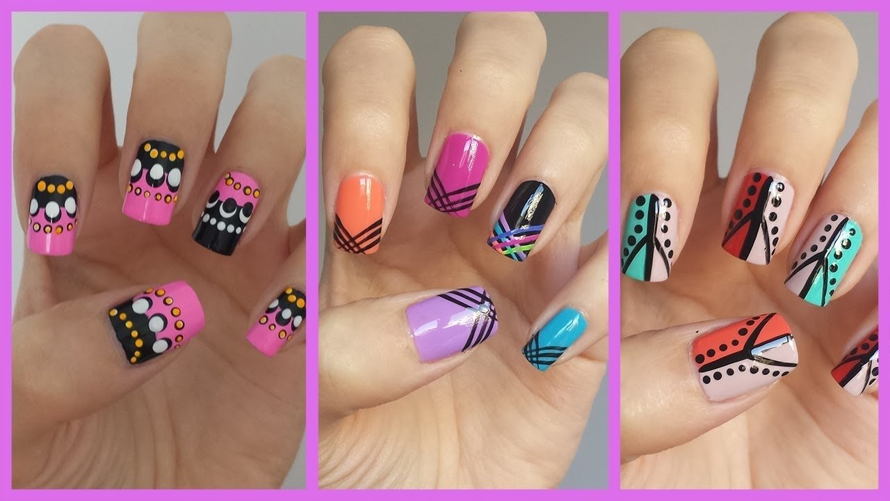 10 Unique Nail Art Ideas Step By Step easy nail art for beginners 12 jennyclairefox youtube 2021