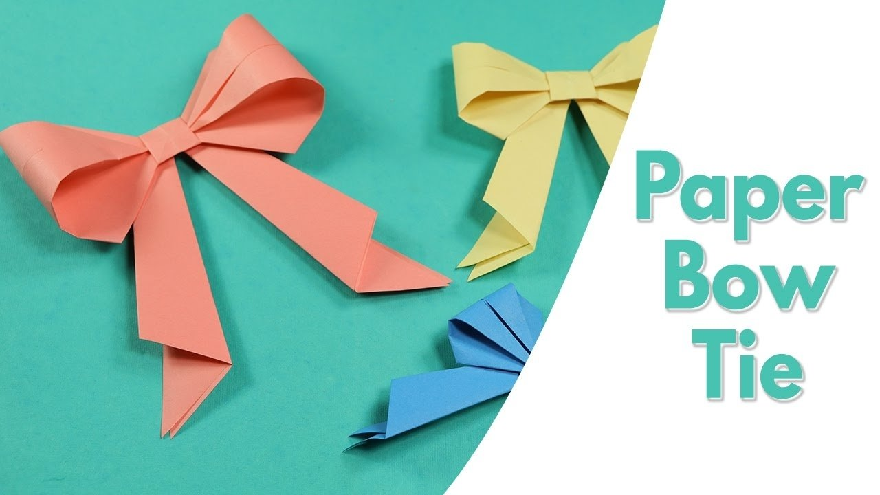 10 Gorgeous Paper Craft Ideas For Kids easy origami for kids paper bow tie simple paper craft idea for 2020