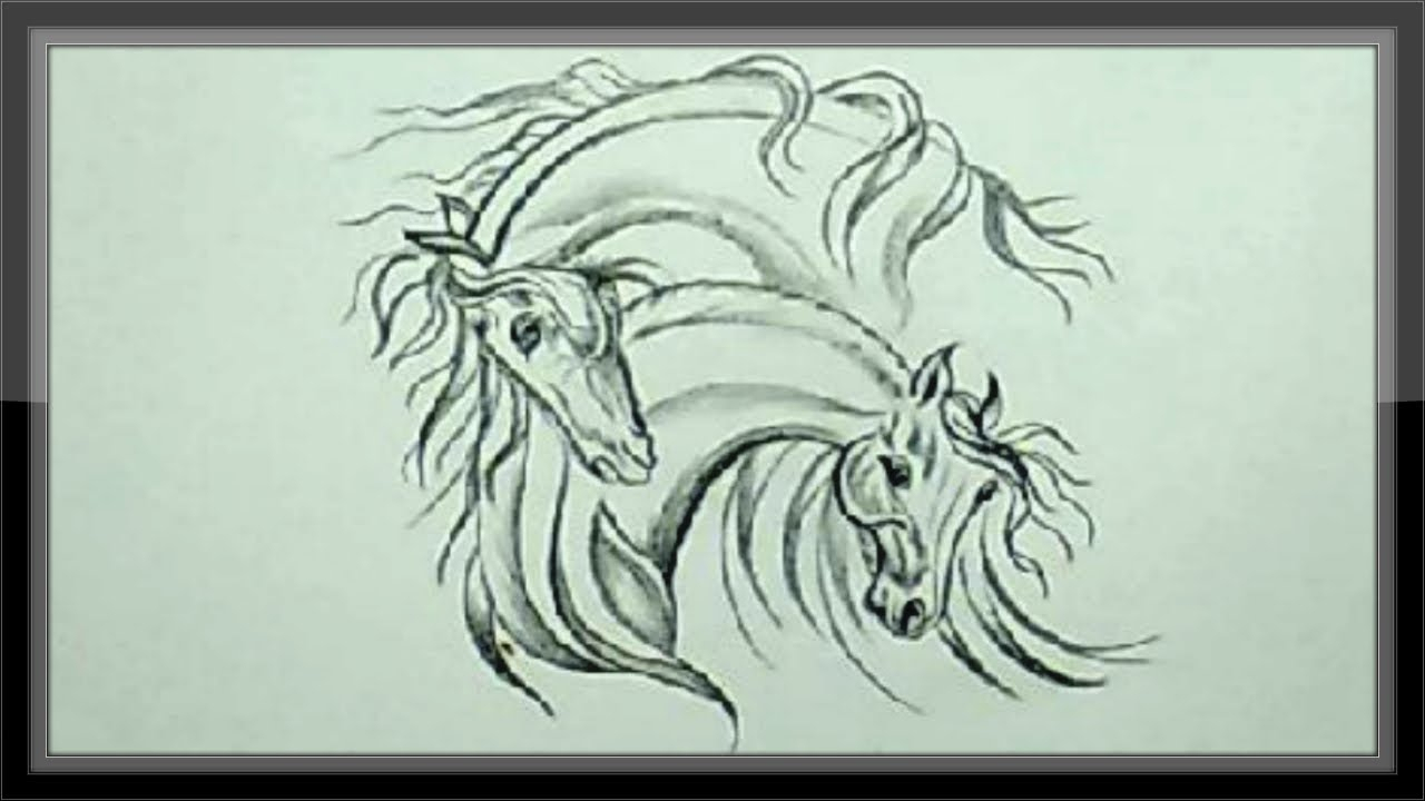10 Wonderful Ideas For Drawings In Pencil easy pencil drawing ideas drawing horse head for beginners youtube