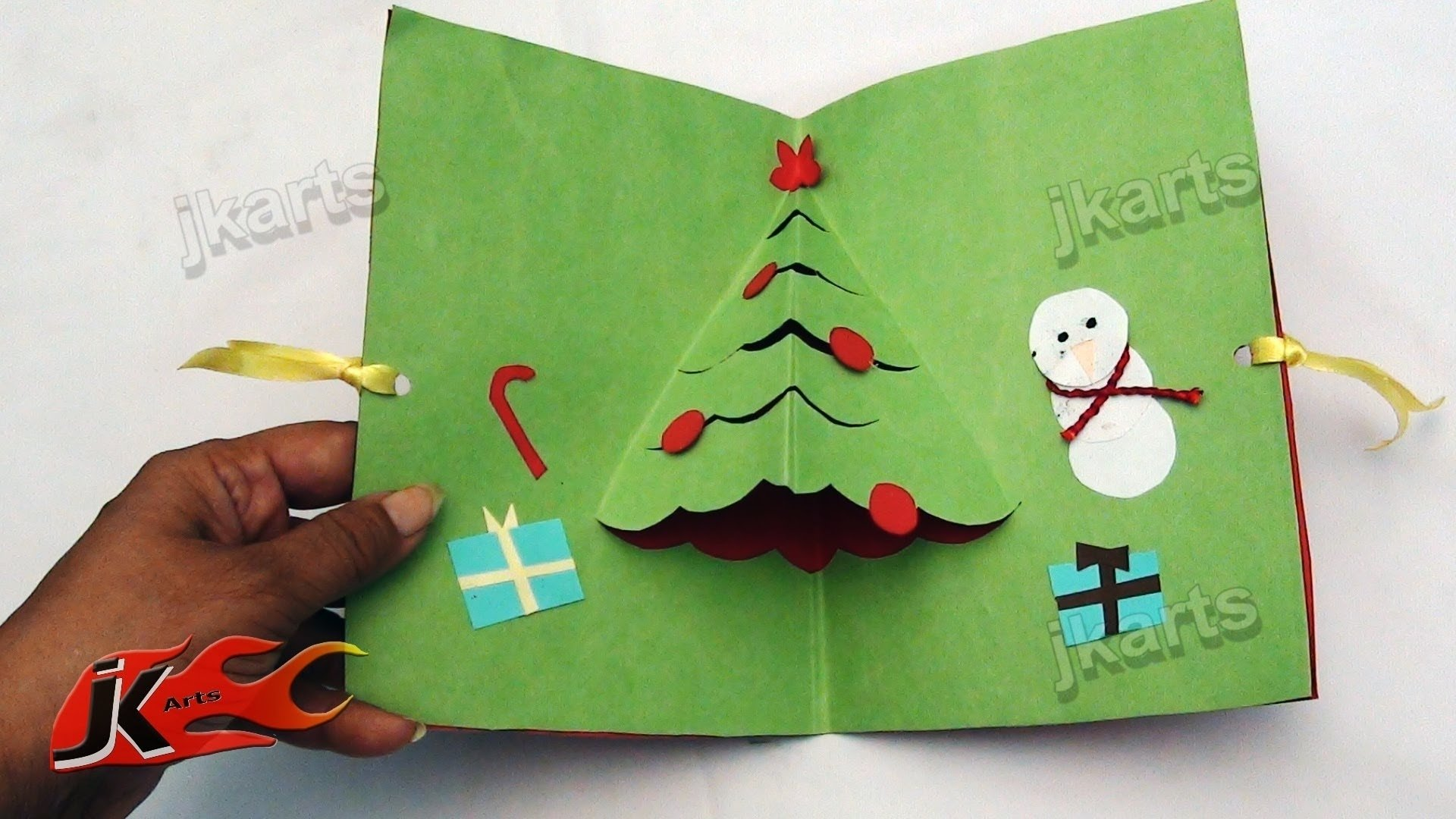 10 Attractive Christmas Card Ideas For Kids easy pop up christmas card jk arts 106 youtube 2021