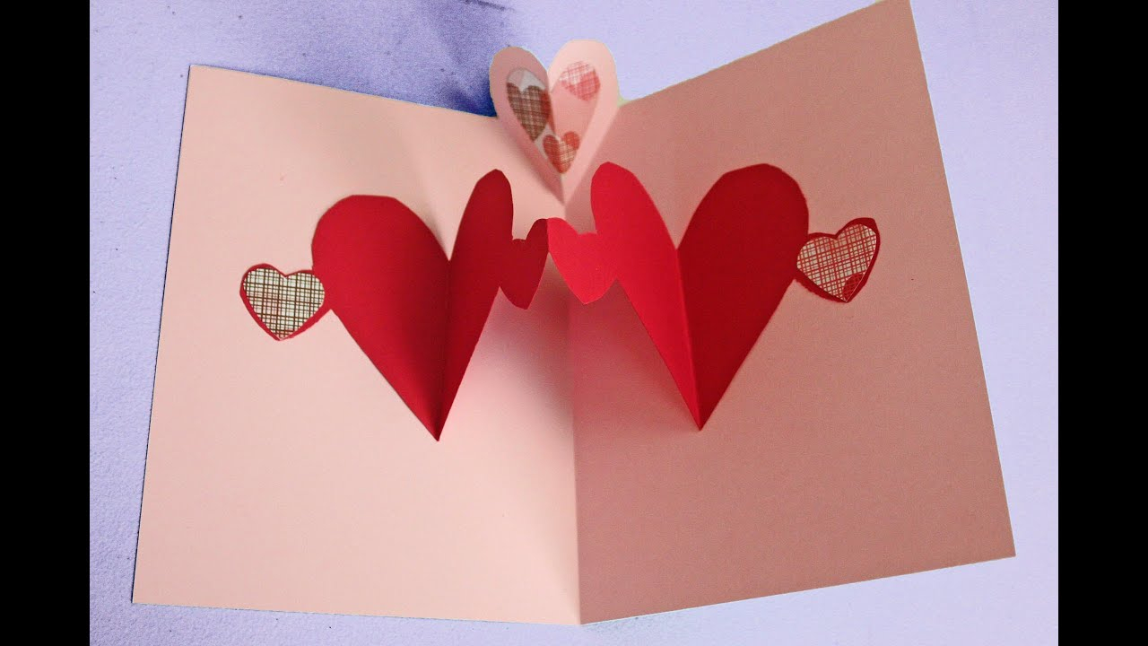 10 Best Valentine Card Ideas For Kids To Make easy pop up heart card making tutorial to make with kids not just 2020