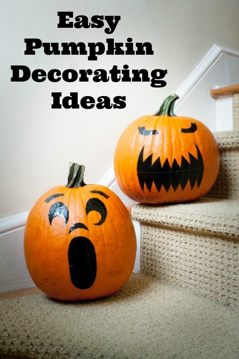 10 Attractive Pumpkin Decorating Ideas Without Carving easy pumpkin decorating ideas without carving the pumpkin 1 2020