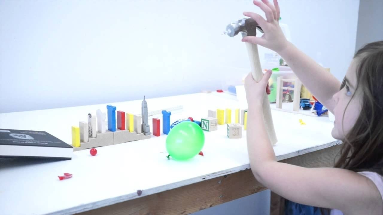 easy rube goldberg ideas: easy rube goldberg machine for kids - youtube