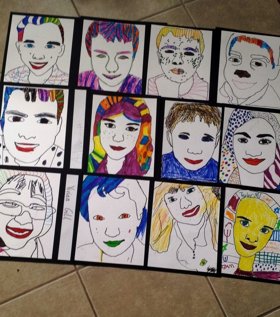 Attractive Self Portrait Ideas For Kids Easy Portraits Graphite And Students Jpg
