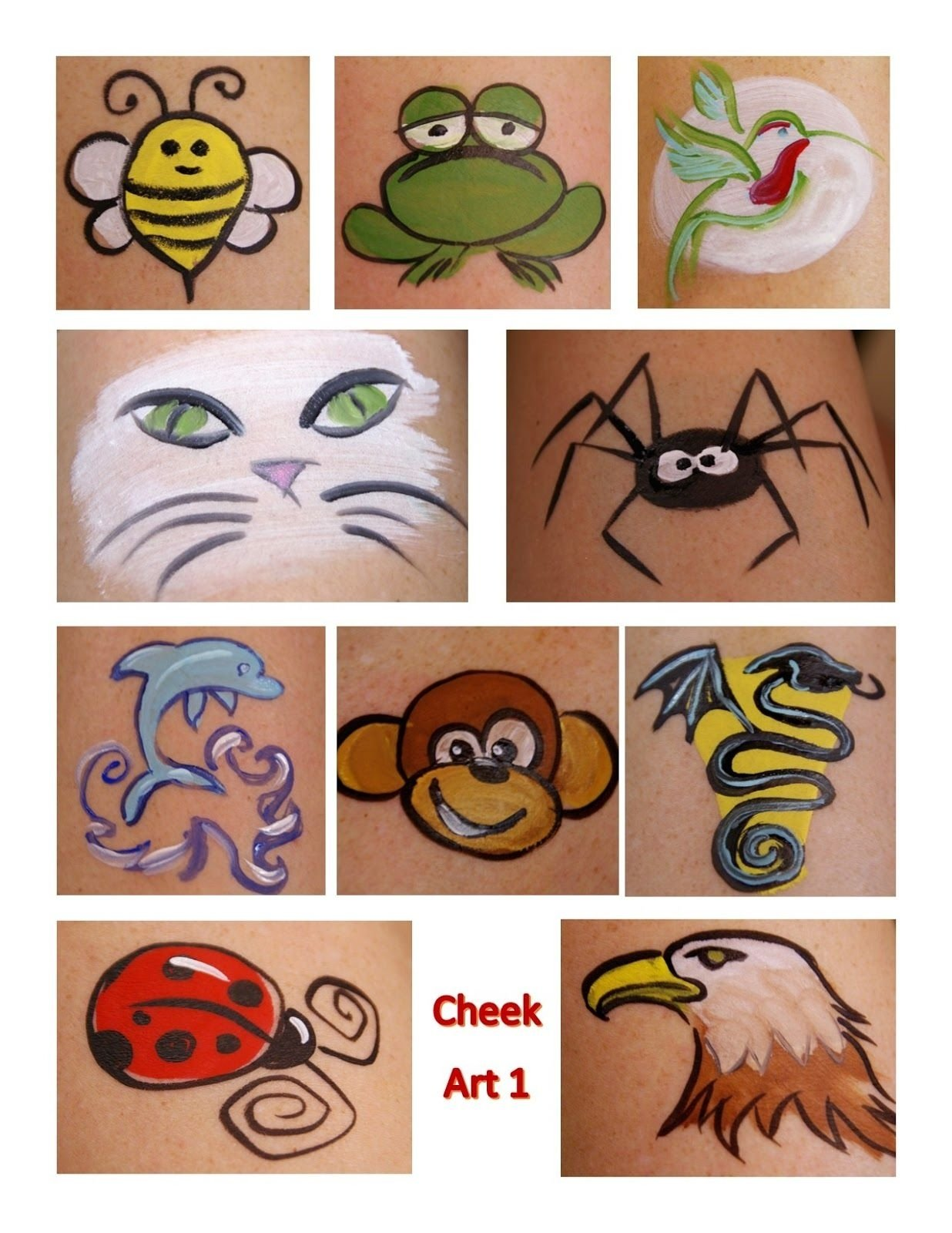 10 Fabulous Easy Face Painting Ideas For Kids Cheeks easy simple design face painting on cheek simple face painting