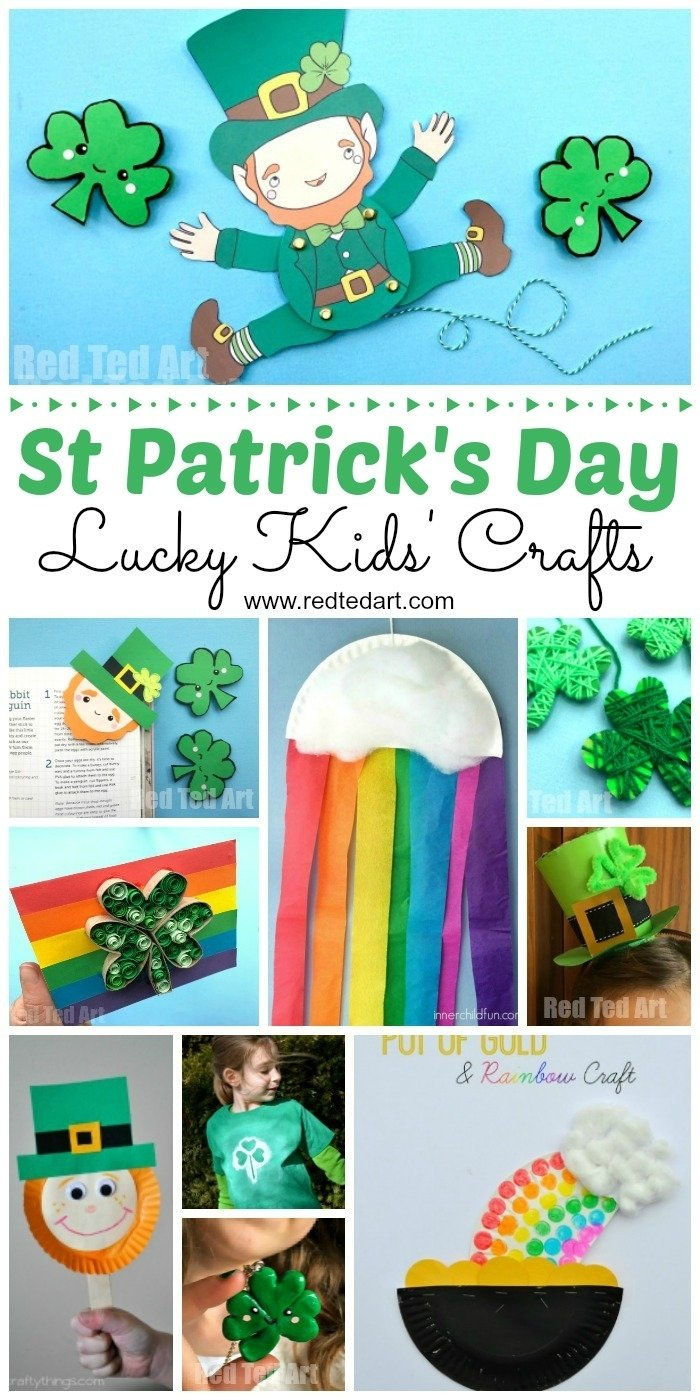 10 Lovable St Patricks Day Craft Ideas easy st patricks day crafts for kids red ted arts blog 1 2020
