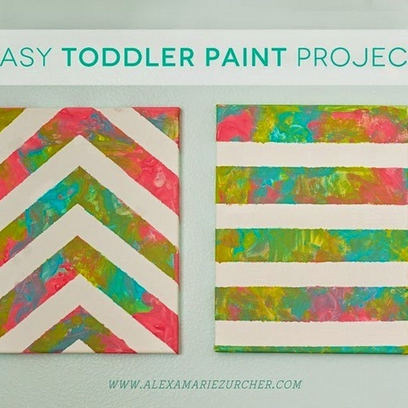 easy toddler paint project | nursery ideas | pinterest | easy, craft