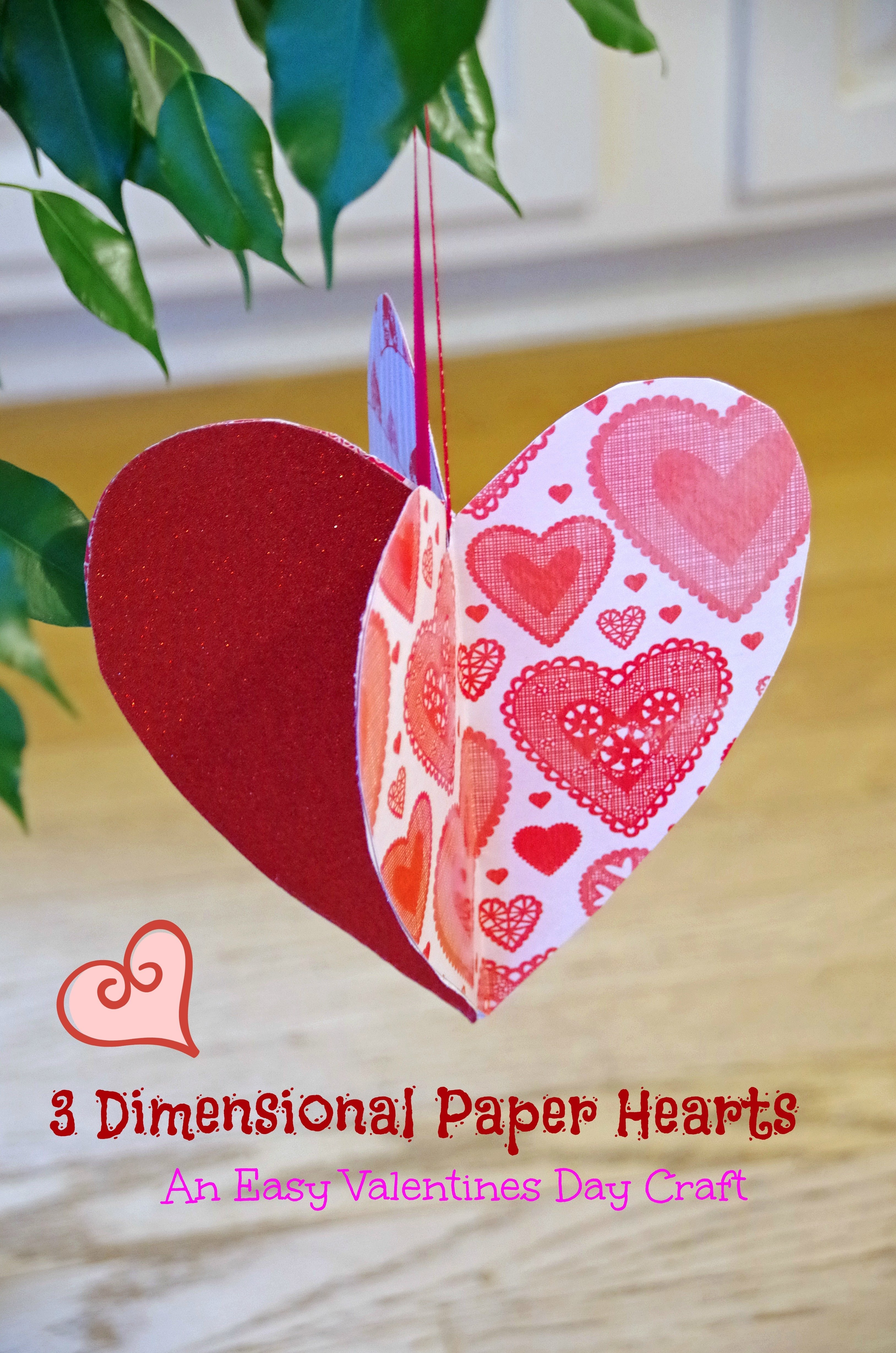 10 Fashionable Valentines Day Craft Ideas For Kids easy valentines day craft idea make 3d paper hearts suburbia 1 2020