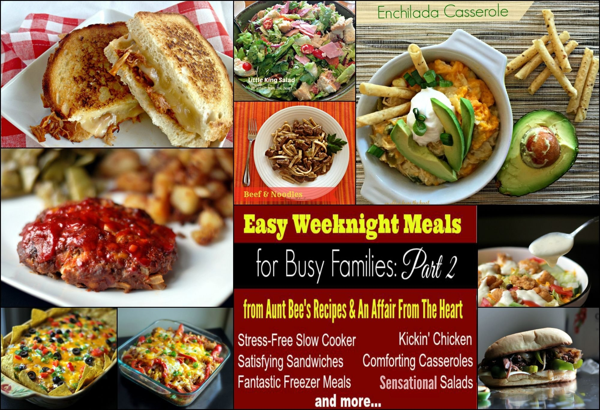 10 Unique Weeknight Dinner Ideas For Families easy weeknight meals for busy families part 2 aunt bees recipes 2021