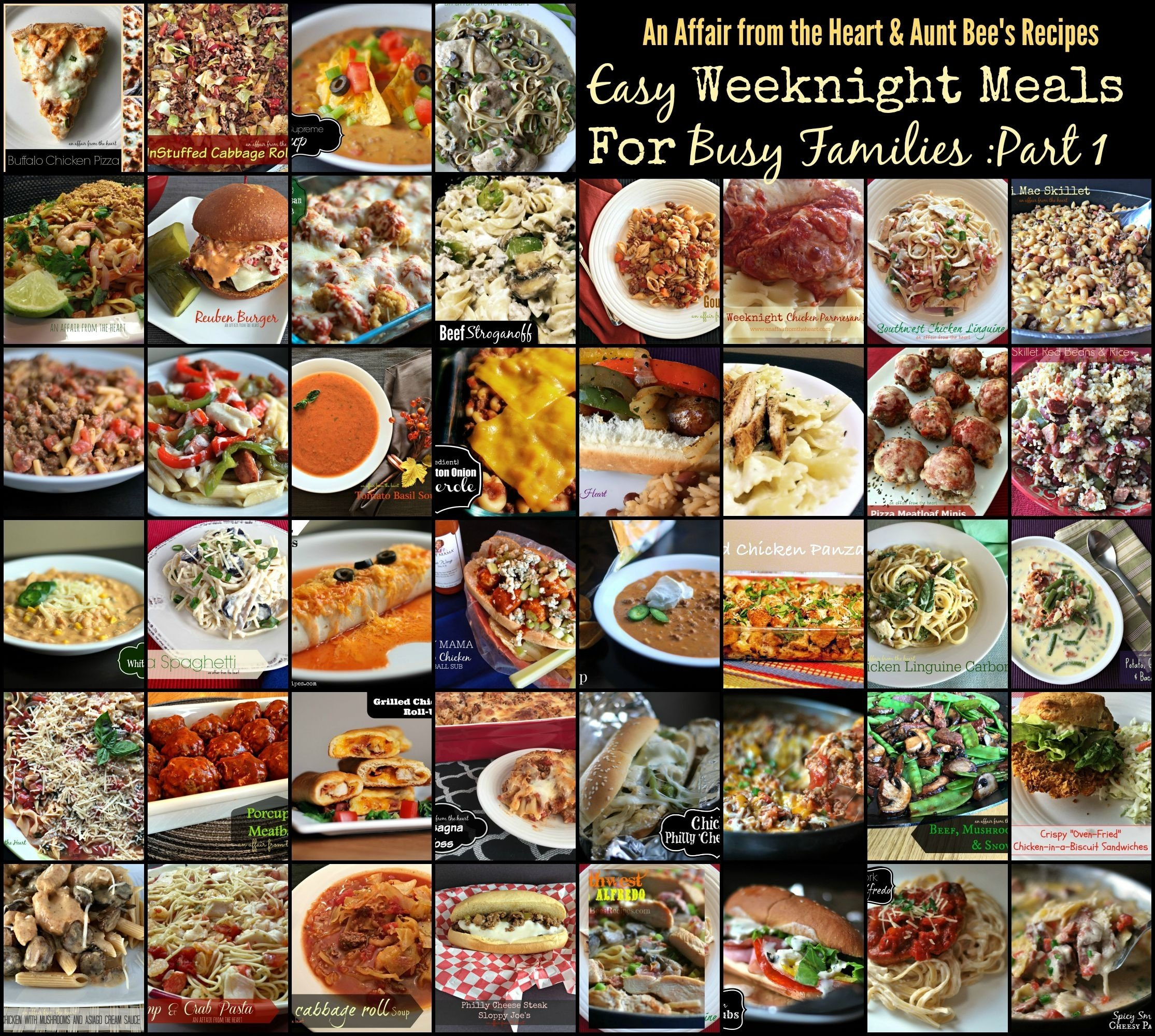 10 Unique Weeknight Dinner Ideas For Families easy weeknight meals for busy families part one an affair from 1 2021