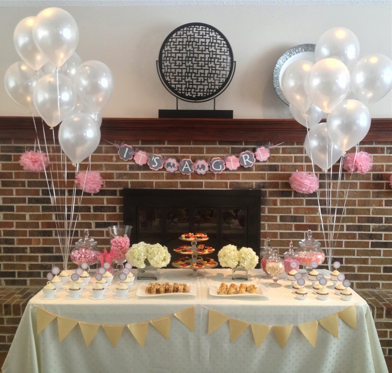10 Wonderful Baby Shower Tea Party Ideas eat with grace pink and grey tea party themed baby shower 1 2020