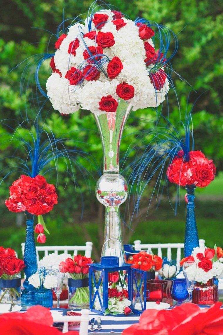 eclectic red, white, and blue wedding ideas | every last detail