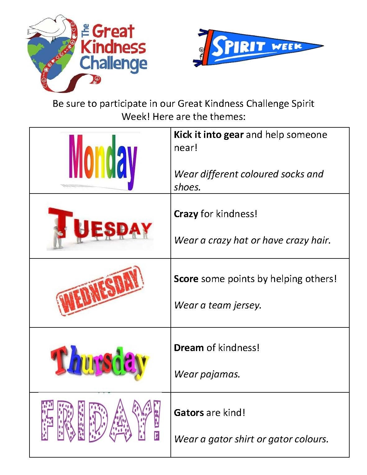 10 Famous Spirit Week Ideas For Middle School ecole golden gate middle school spirit week january 23 27 2020