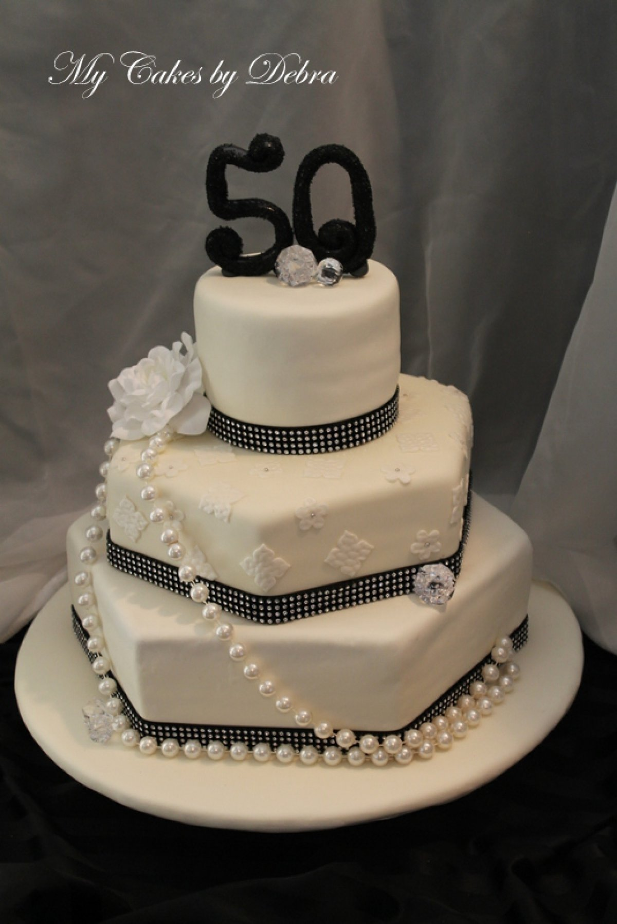 10 Wonderful Ideas For 50Th Birthday Cake Elegant 50th Toppers Best Cakes