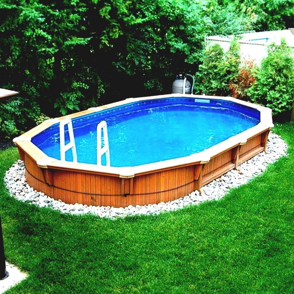 elegant backyard above ground pool ideas landscaping pictures design
