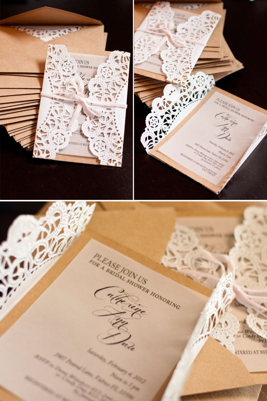 10 Most Recommended Diy Bridal Shower Invitations Ideas elegant country bridal shower invitations tutorial wedding