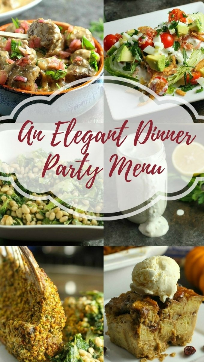 elegant dinner party menu - a dish of daily life