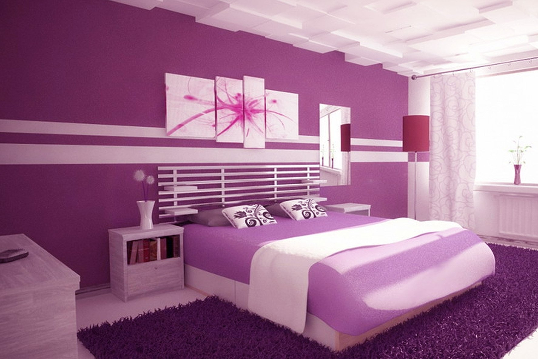 10 Lovely Pink And Purple Room Ideas elegant purple walls bedroom chocoaddicts chocoaddicts 1 2020