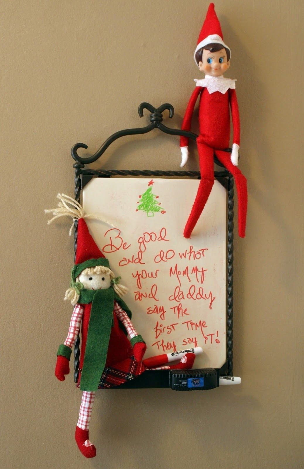 10 Elegant Pinterest Elf On The Shelf Ideas elf on a shelf ideas cooper could draw a picture of santa on the 1 2020