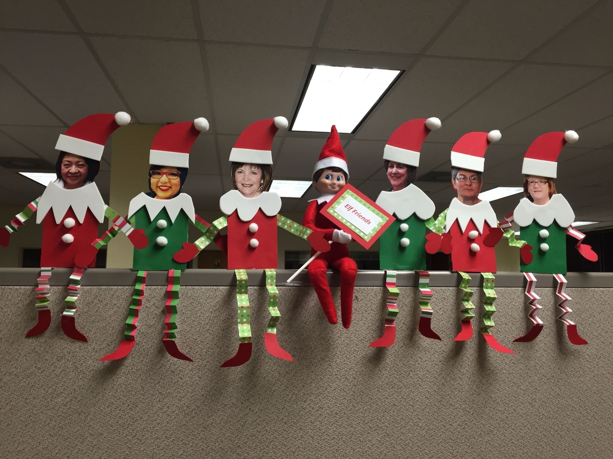 elf on the shelf at the office. elf friends. | christmas | pinterest
