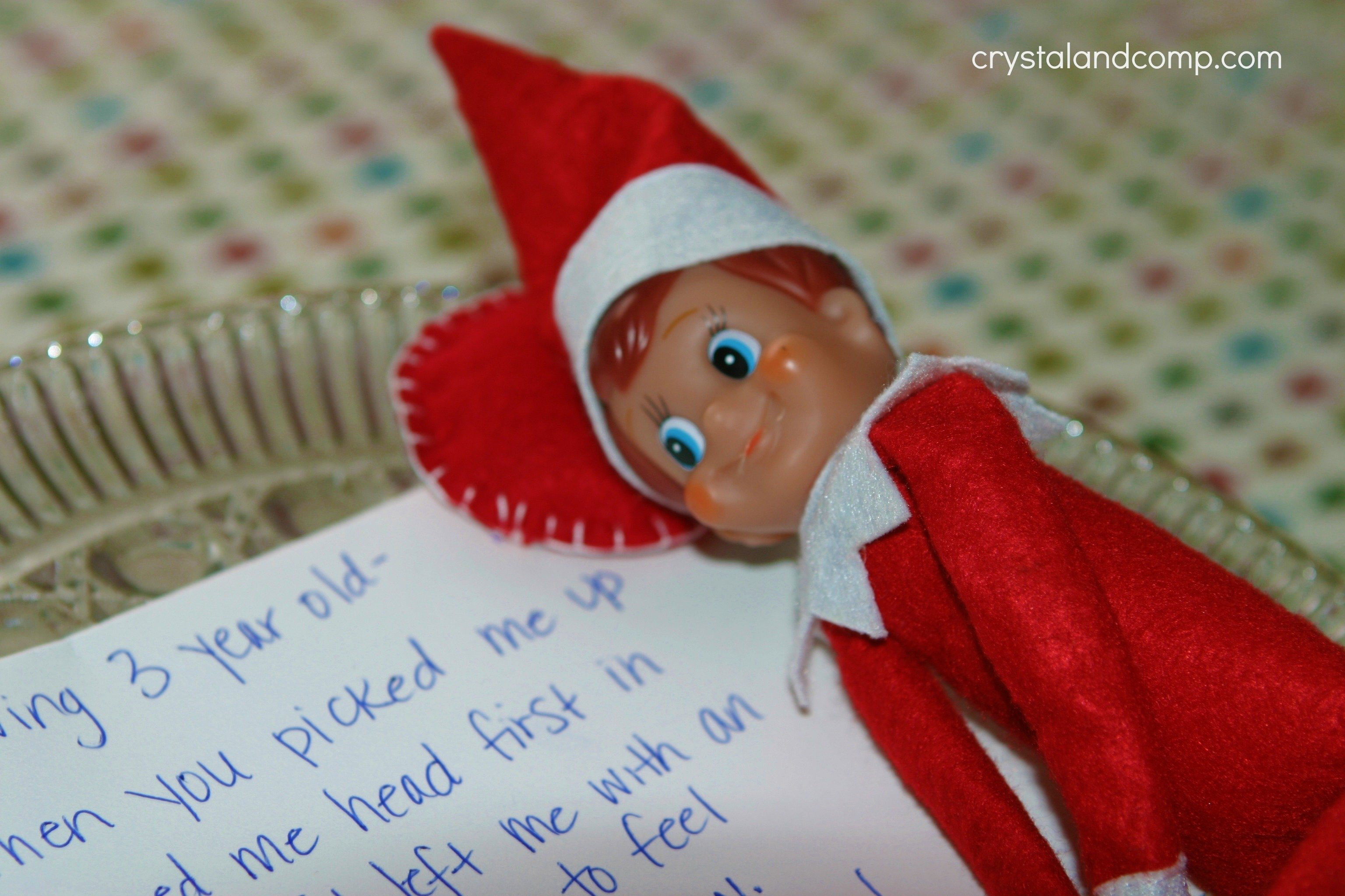 elf on the shelf had a bad fall #elfontheshelf | crystalandcomp