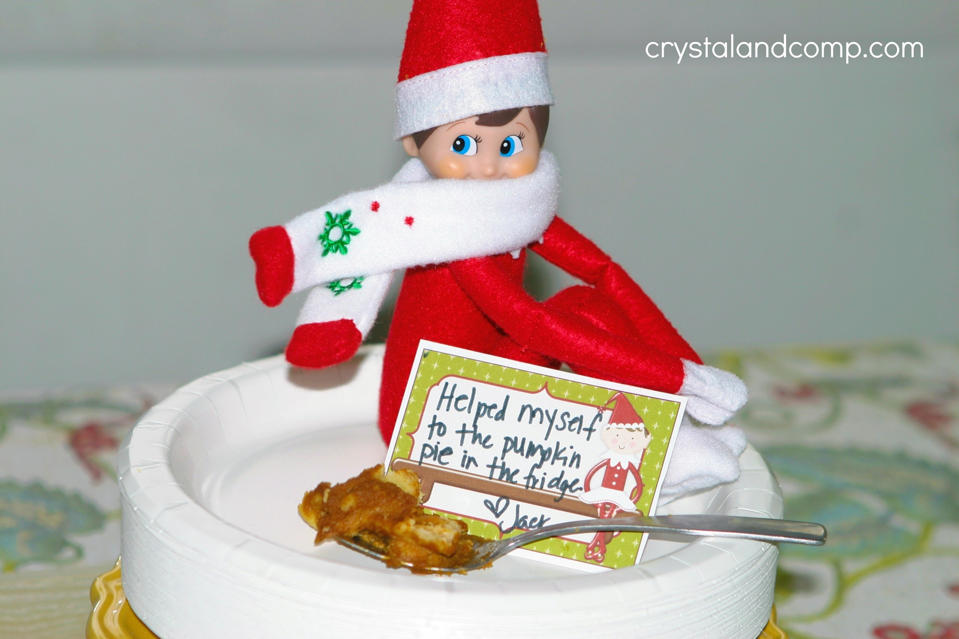 10 Pretty Ideas For Elf On A Shelf elf on the shelf ideas eat leftover pumpkin pie 1 2021