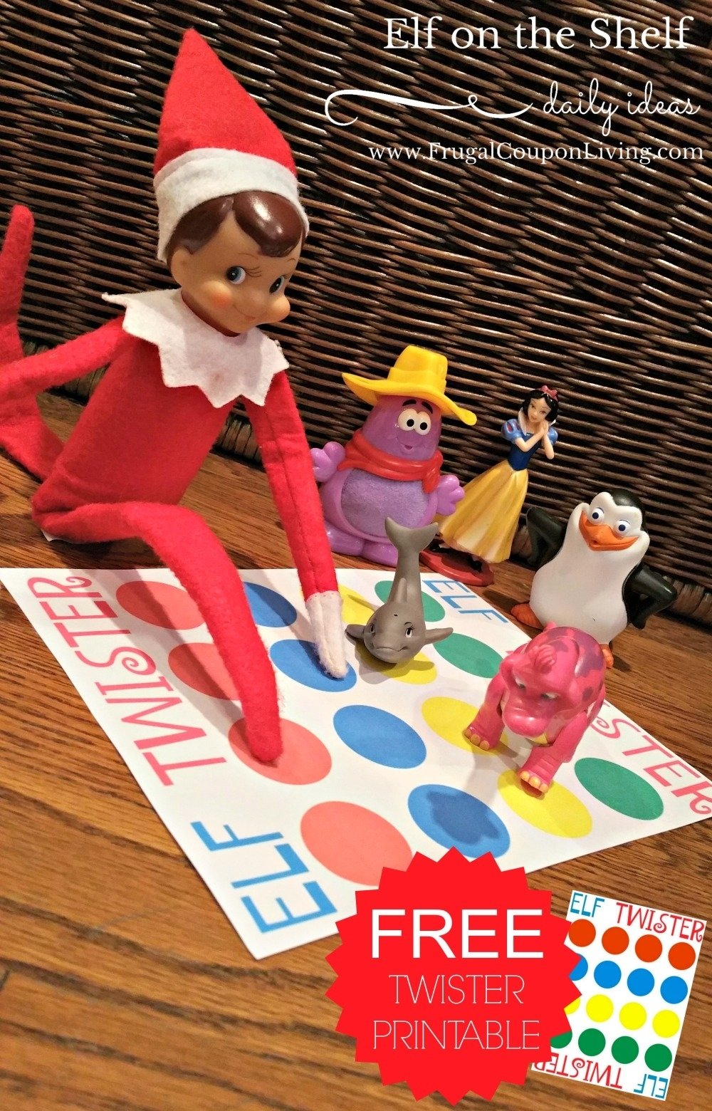 elf on the shelf ideas | elf twister printable